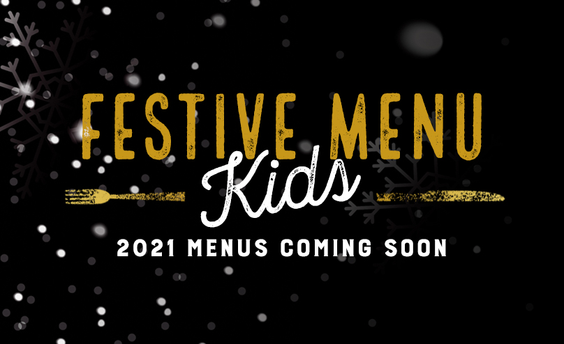 Festive Kids Menu at The Black Bull